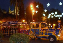 palma christmas mini train