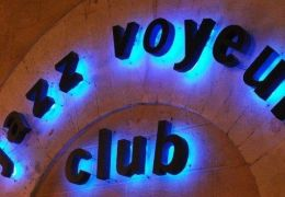 jazz voyeur club sign